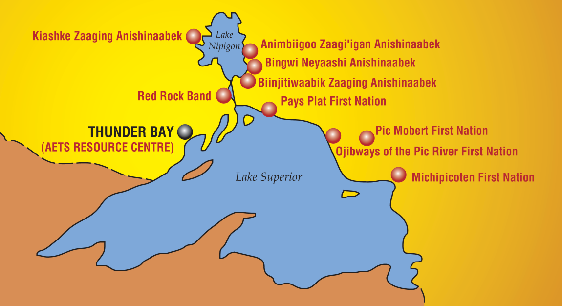 regional map anishinabek employment training services north superior